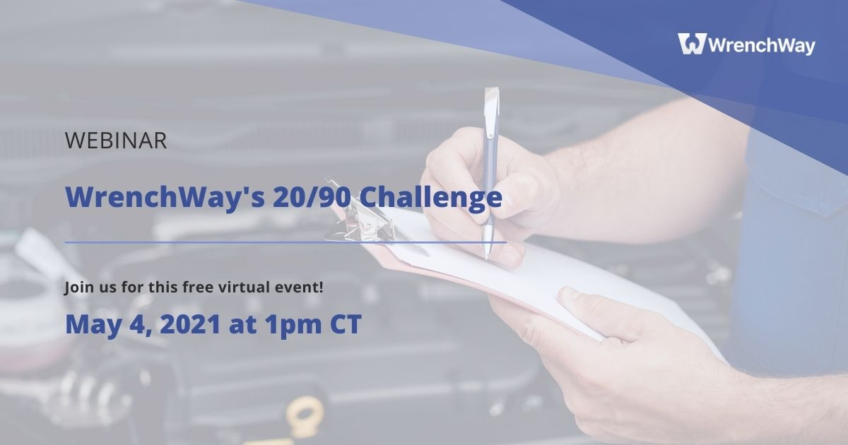 wrenchway webinar wrenchway 20/90 challenge