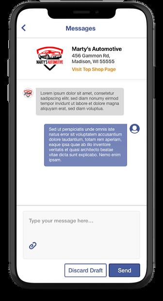 Reverse Job Post Messaging iPhone