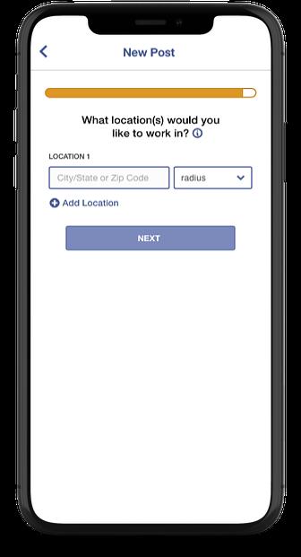 Reverse Job Posts iPhone View - Pick Location