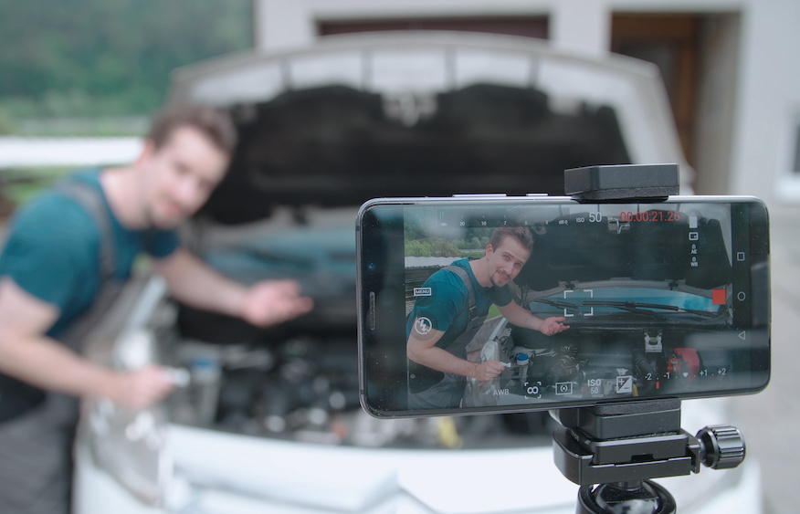 recording a video of a car on your phone