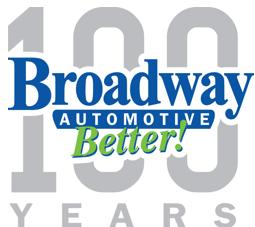 Broadway Automotive 100 Years Logo